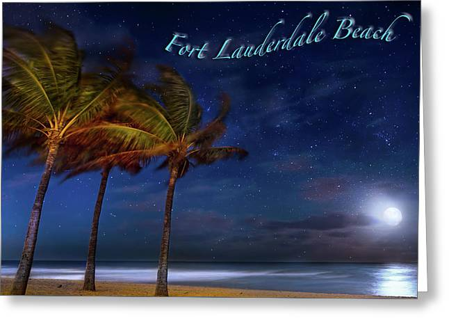 Fort Lauderdale Beach Greeting Greeting Card by Mark Andrew Thomas