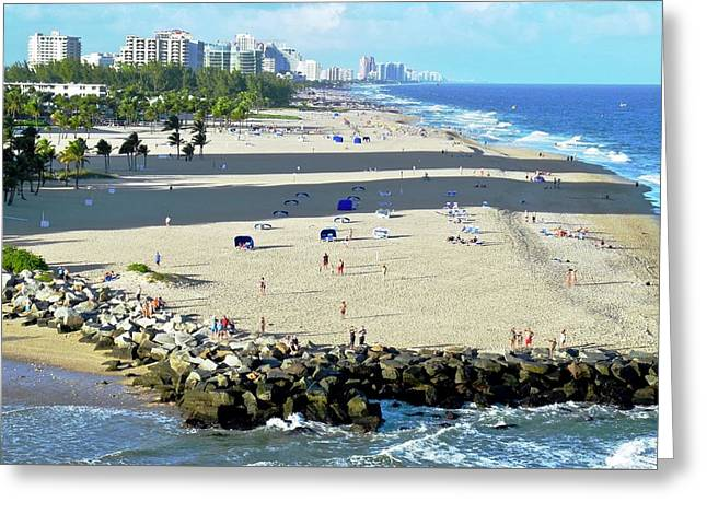 Fort Lauderdale Beach Park Greeting Card by Kirsten Giving