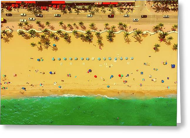 Fort Lauderdale Florida Greeting Card by Lance Asper
