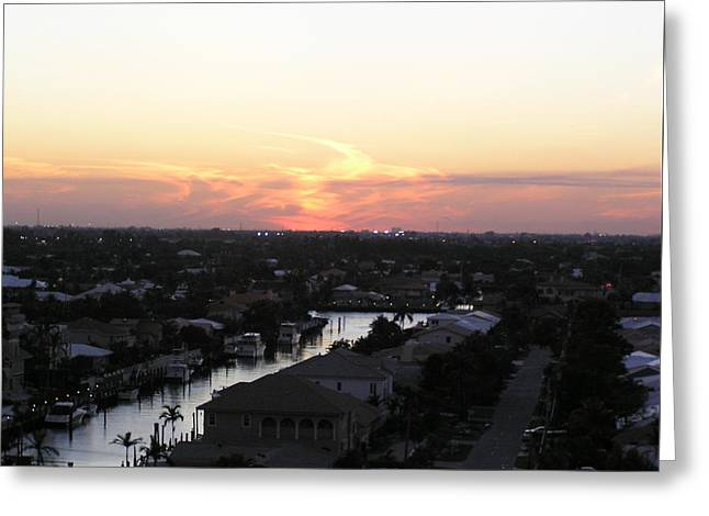 Fort Lauderdale Sunset Greeting Card