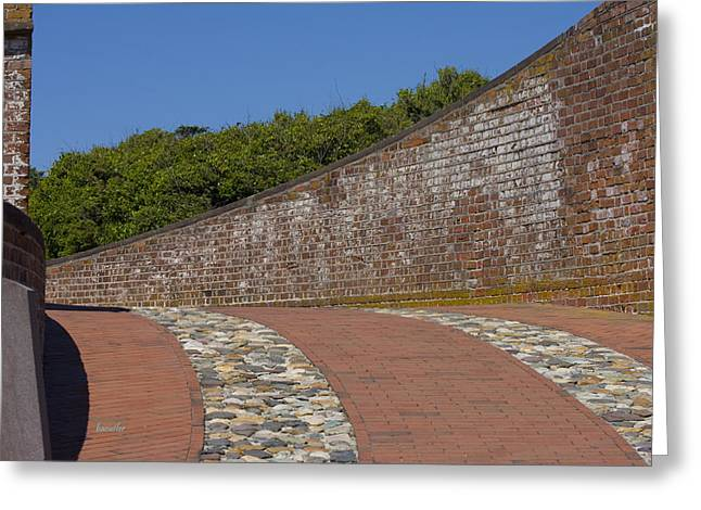 Harkers Greeting Cards - Fort Macon Greeting Card by Betsy C  Knapp