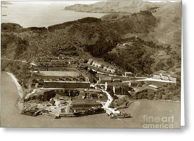 Fort Mcdowell On Angel Island With The Golden Gate And Fort  Baker 1920 Greeting Card