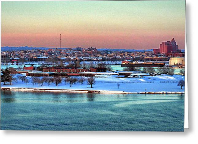 Fort Mchenry Shrouded In Snow Greeting Card