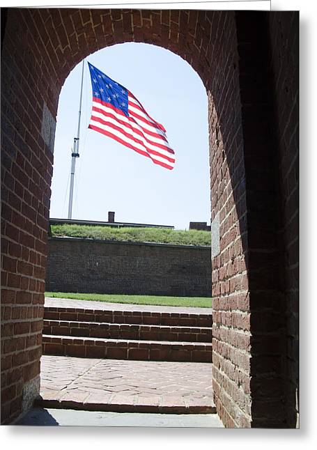 Fort Mchenry Star Spangled Banner Greeting Card by Bill Cannon