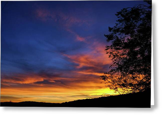 Fort Mohave Arizona Sunset Greeting Card