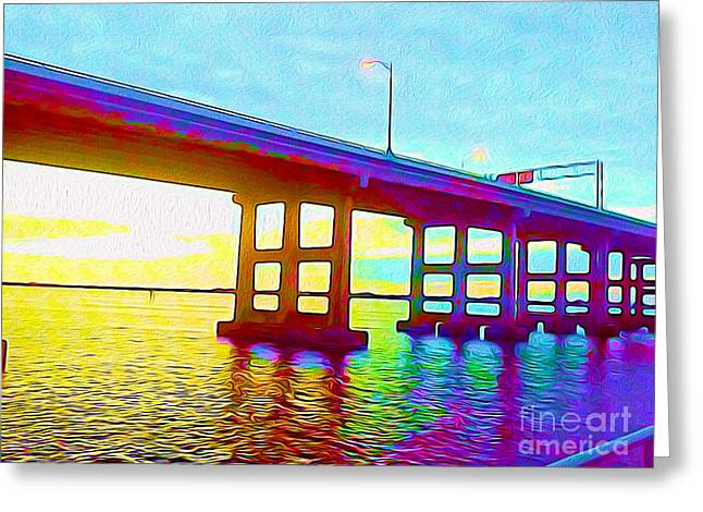 Fort Myers Bridge Greeting Card by Chris Andruskiewicz