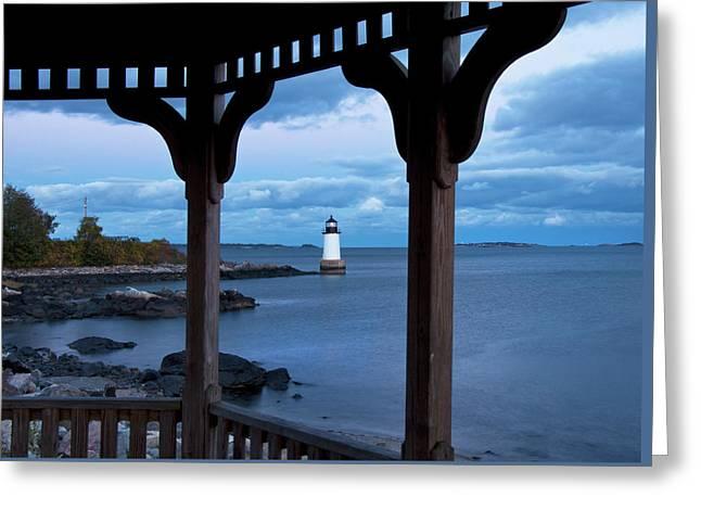 Fort Pickering Light - Salem Ma Greeting Card by Joann Vitali