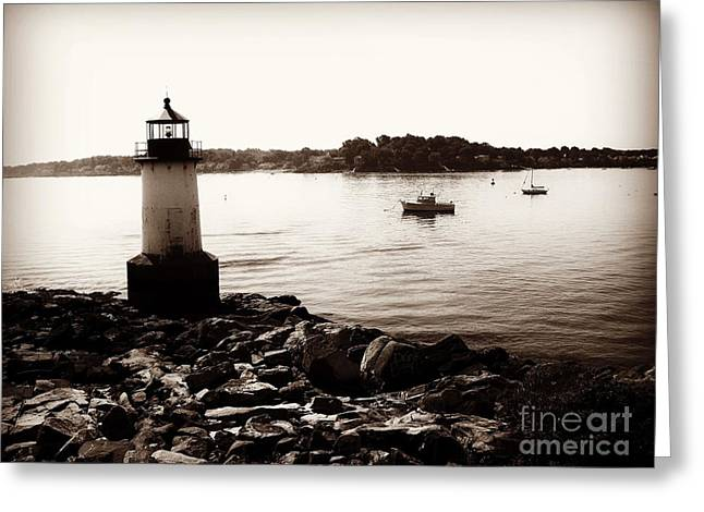 Fort Pickering Lighthouse, Winter Island, Salem, Massachusetts Greeting Card
