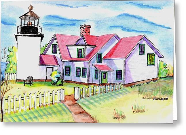 Fort Point Lighthouse Maine Greeting Card by Paul Meinerth