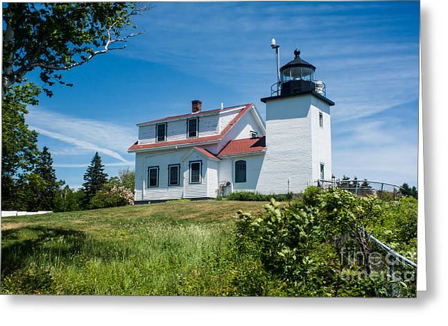Fort Point Lighthouse  Stockton Springs Me 2  Greeting Card