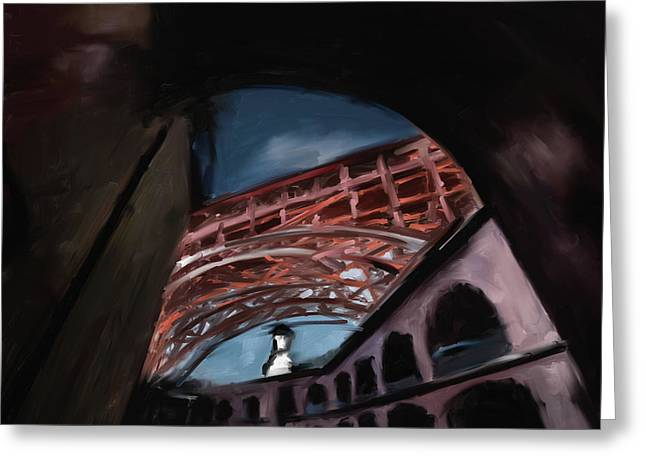 Fort Point Long Ave 553 1 Greeting Card by Mawra Tahreem