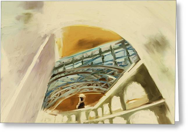 Fort Point Long Ave 553 2 Greeting Card by Mawra Tahreem