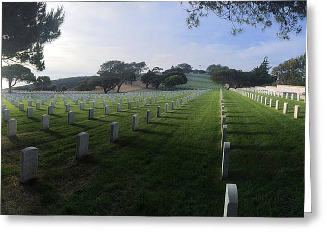 Greeting Card featuring the photograph Fort Rosecrans National Cemetery by Lynn Geoffroy