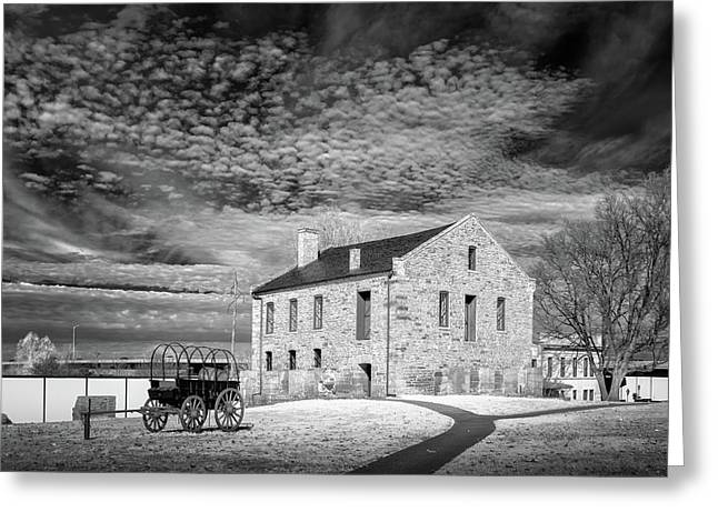 Greeting Card featuring the photograph Fort Smith Historic Site by James Barber