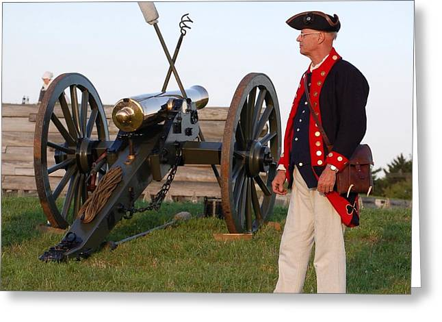 Fort Stanwix Cannon Ready Greeting Card by Diane E Berry