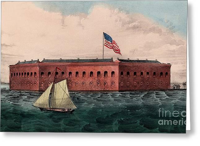 Fort Sumter, Charleston Harbor, South Carolina Greeting Card