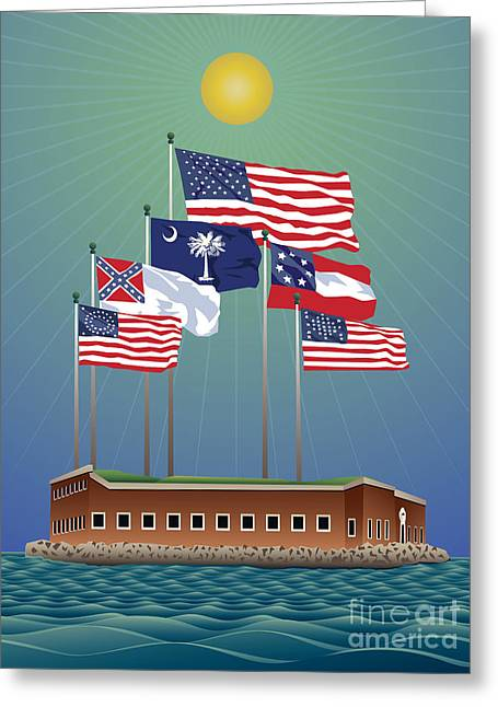 Fort Sumter, Charleston, Sc Greeting Card