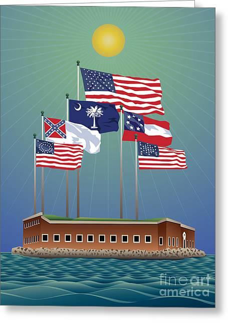 Fort Sumter, Charleston, Sc Greeting Card
