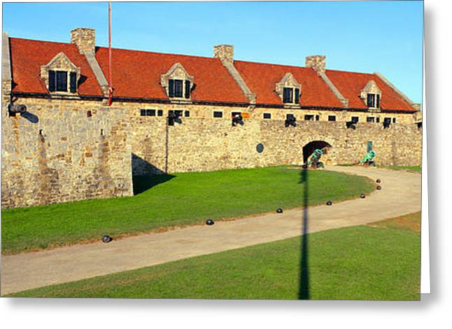 Fort Ticonderoga, Lake Champlain, New Greeting Card by Panoramic Images