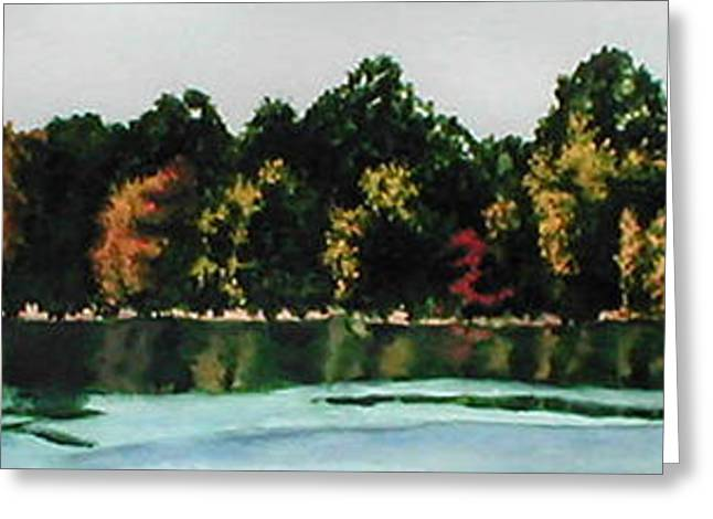 Fort Toulouse Coosa River Greeting Card by Beth Parrish
