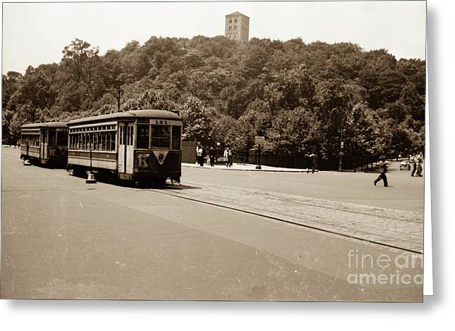 Fort Tryon Trolley Greeting Card