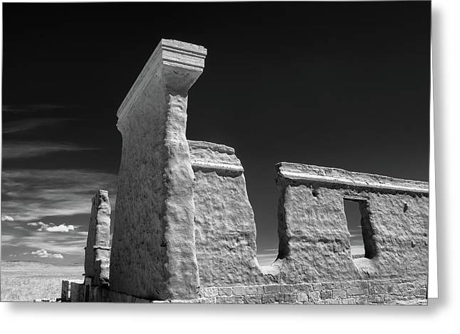 Fort Union Ruins Greeting Card by James Barber