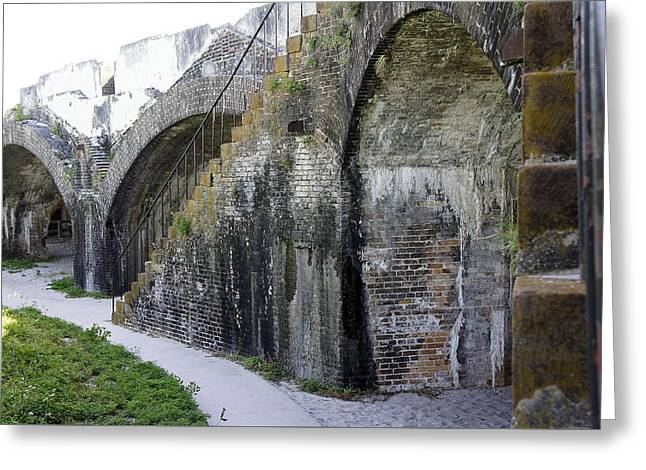 Fort Walls Greeting Card by Laurie Perry