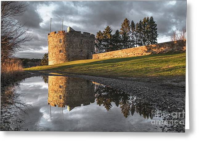 Fort William Henry Reflection Greeting Card by Benjamin Williamson