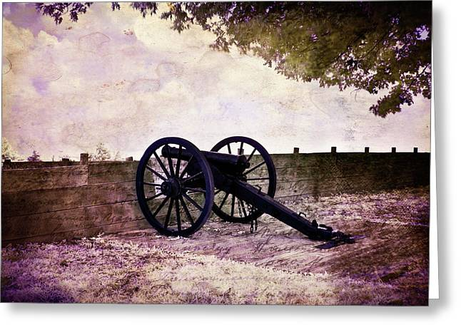 Civil War .tree Greeting Cards - Fort Williams Canon IR Greeting Card by Amber Flowers