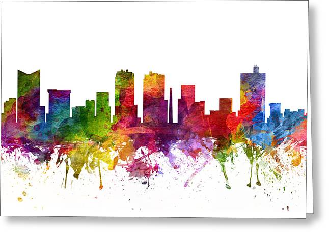 Fort Worth Cityscape 06 Greeting Card