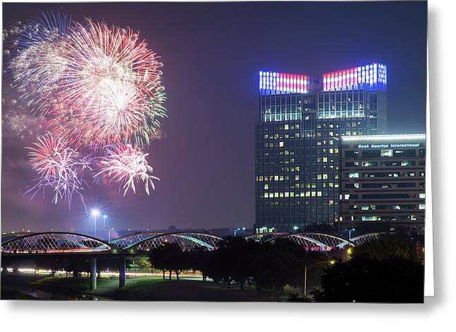 Fort Worth Fourth V2 041017 Greeting Card by Rospotte Photography