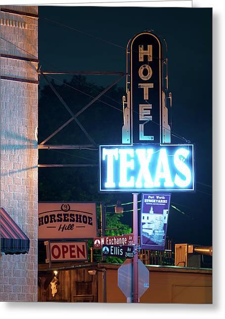 Fort Worth Hotel Texas 6616 Greeting Card