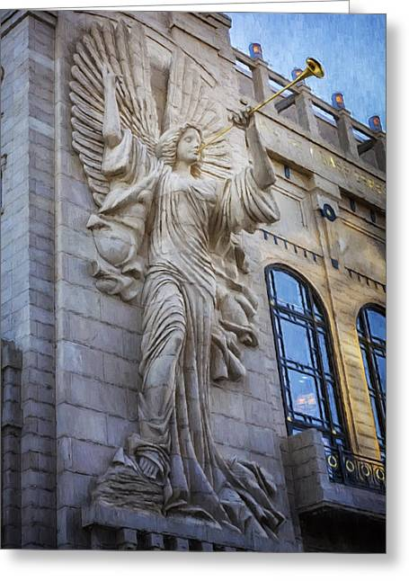 Fort Worth Impressions Bass Hall Angel Greeting Card