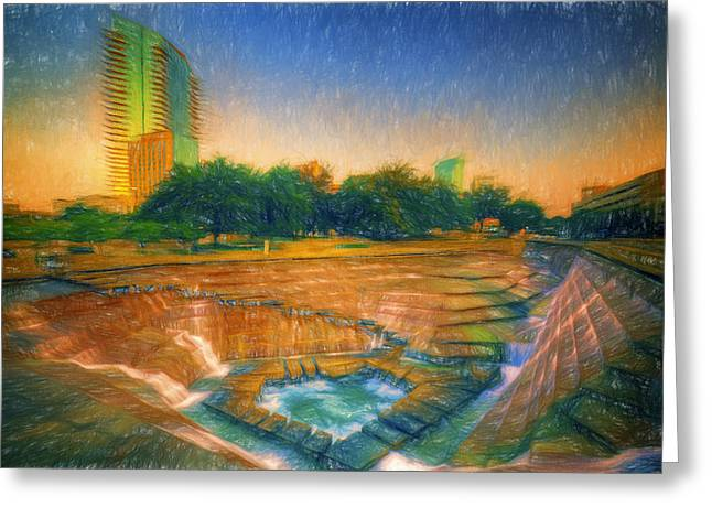 Fort Worth Impressions Water Gardens Greeting Card
