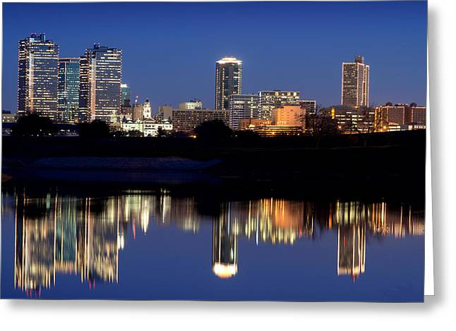 Fort Worth Reflection 41916 Greeting Card