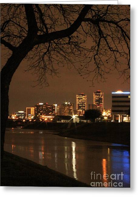 Fort Worth Skyline Greeting Card