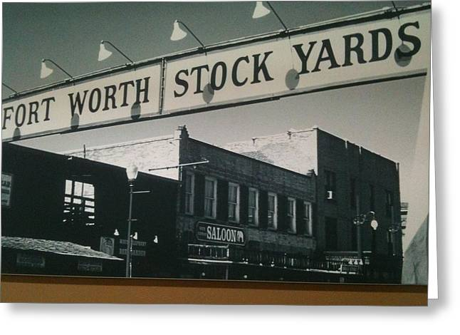Fort Worth Stockyards Greeting Card by Shawn Hughes