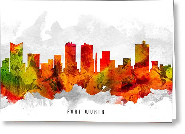 Fort Worth Texas Cityscape 15 Greeting Card by Aged Pixel
