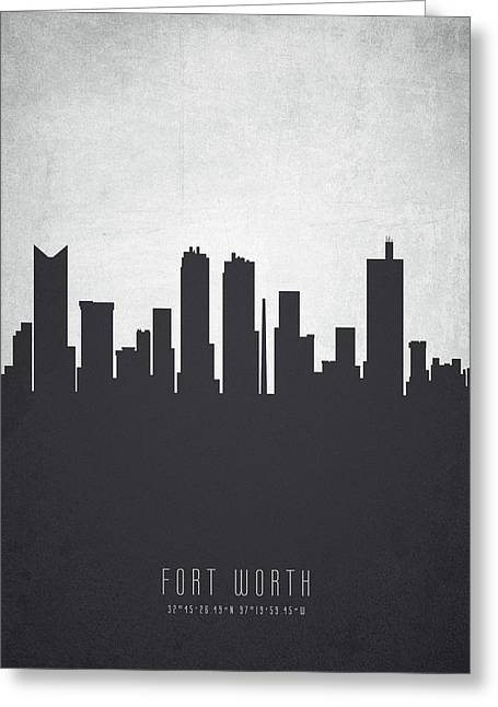 Fort Worth Texas Cityscape 19 Greeting Card by Aged Pixel