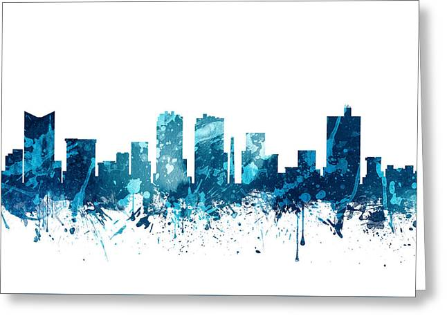 Fort Worth Texas Skyline 19 Greeting Card by Aged Pixel