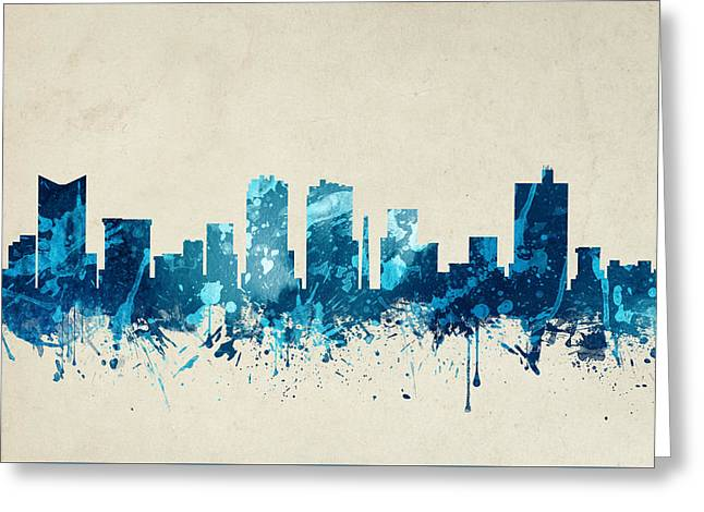 Fort Worth Texas Skyline 20 Greeting Card by Aged Pixel