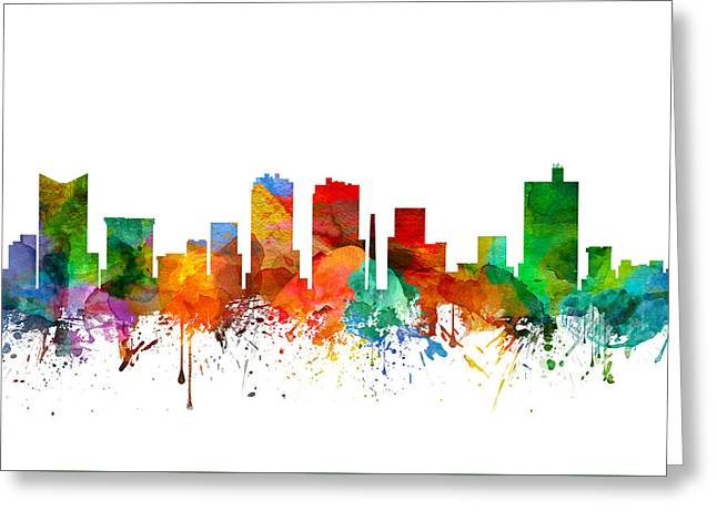 Fort Worth Texas Skyline 21 Greeting Card by Aged Pixel