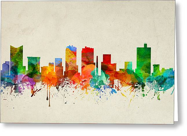 Fort Worth Texas Skyline 22 Greeting Card by Aged Pixel