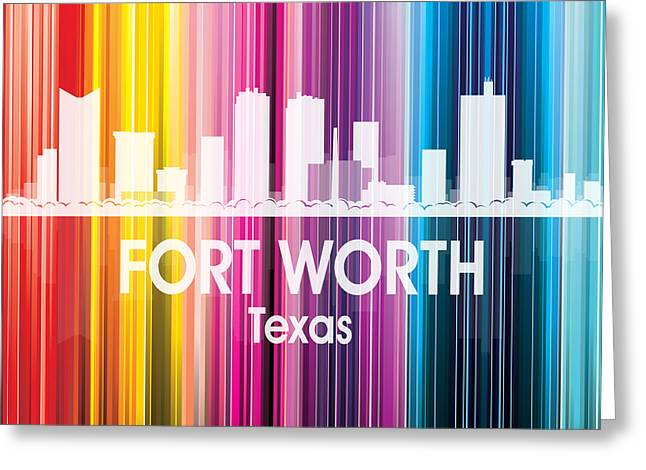 Fort Worth Tx 2 Squared Greeting Card