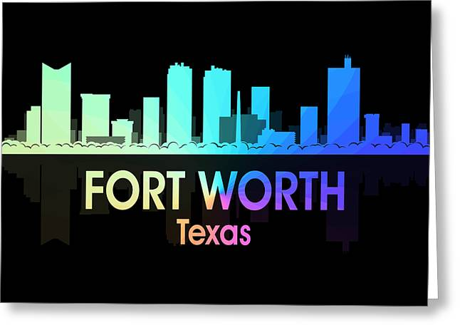 Fort Worth Tx 5 Squared Greeting Card