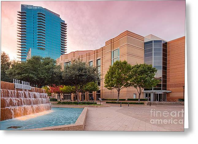 Fort Worth Water Gardens - Convention Center - Omni Hotel - Downtown Fort Worth - North Texas Greeting Card by Silvio Ligutti