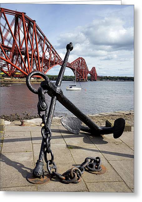 Greeting Card featuring the photograph Forth Bridge by Jeremy Lavender Photography