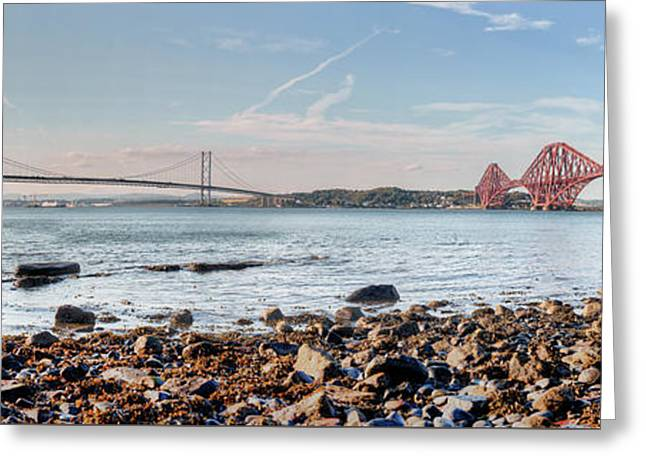 Forth Bridges Panorama Greeting Card