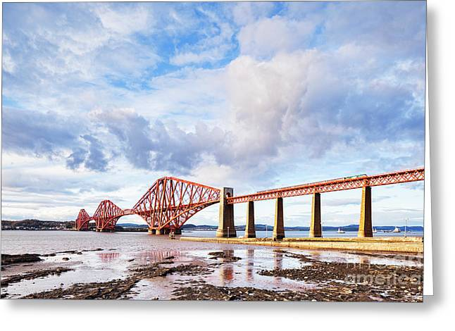 Greeting Card featuring the photograph Forth Rail Bridge by Colin and Linda McKie