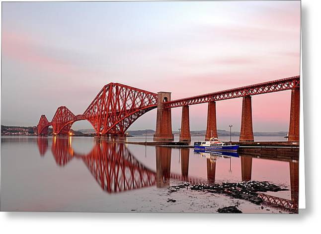 Greeting Card featuring the photograph Forth Railway Bridge Sunset by Grant Glendinning
